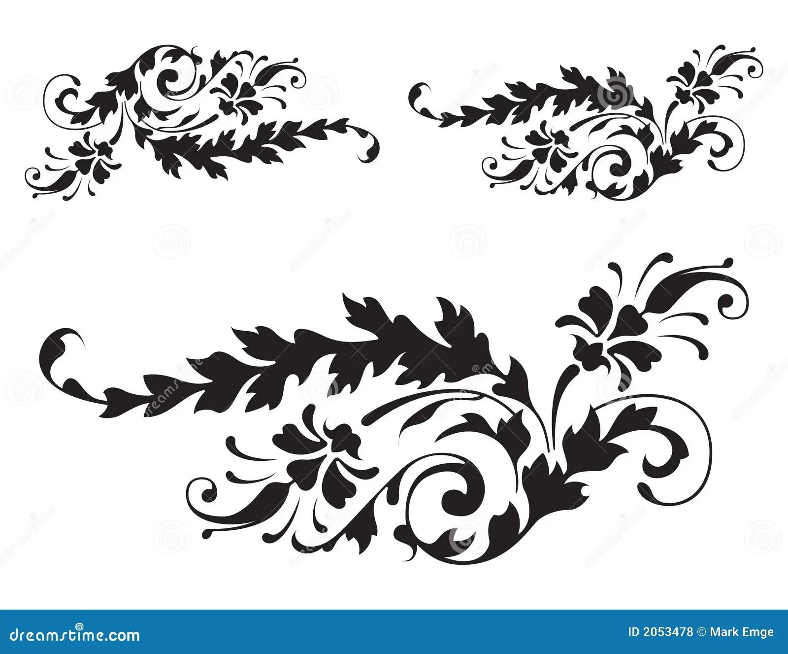 Floral Renaissance Detail Vector 3 Stock Vector