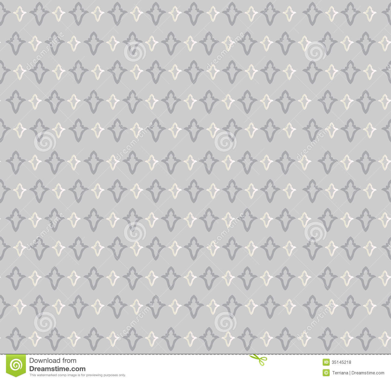Floral Seamless Background Abstract Grey And White Floral