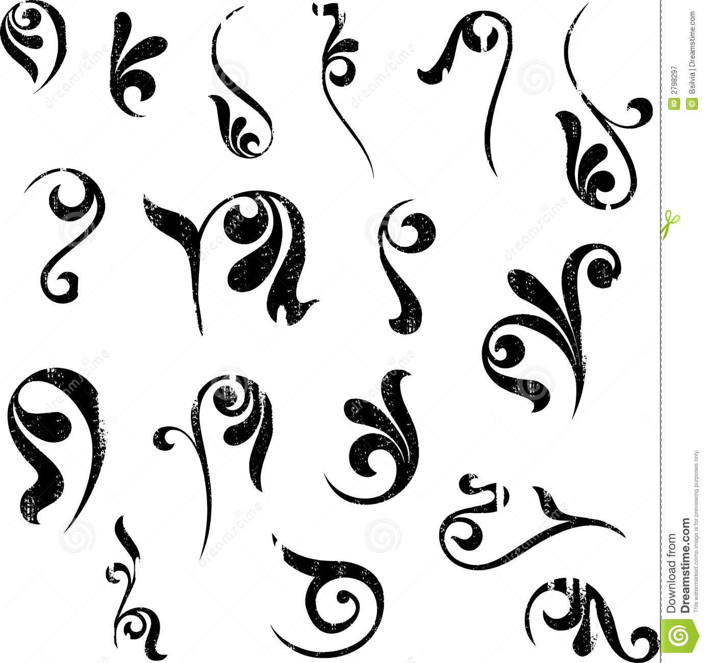 Floral Shapes Royalty Free Stock Photography