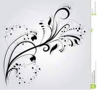 Floral silhouette stock vector. Image of swirl, decor ...