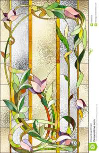 Floral Stained-glass Pattern Stock Illustration ...