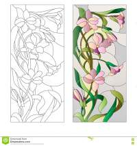 Floral Stained-glass Pattern Stock Vector - Illustration ...