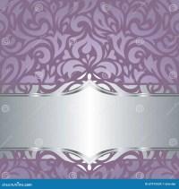 Floral Violet Vector Wedding Vintage Background Design
