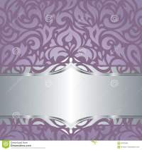 Floral Violet Vector Wedding Vintage Background Design ...