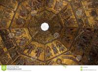 Florence Baptistery Ceiling Mosaic Stock Photos