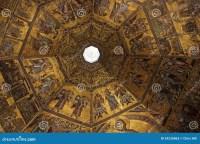 Florence Baptistery Ceiling Mosaic Stock Photos