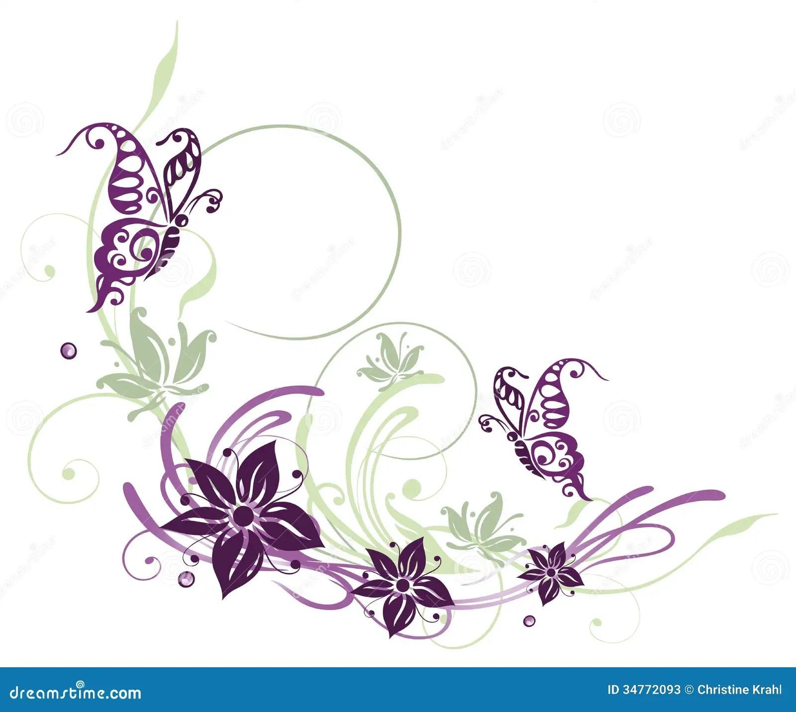 Flores mariposas ilustracin del vector Imagen de travieso  34772093