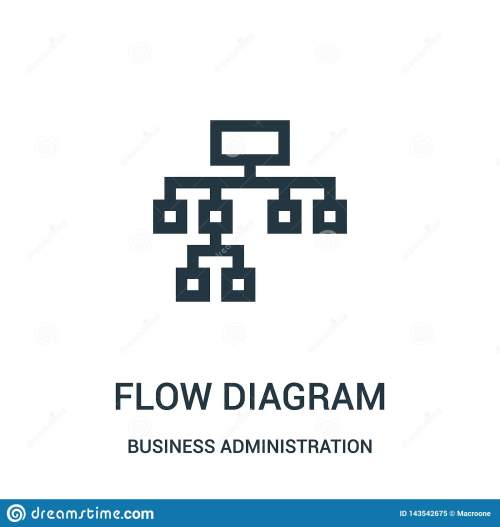 small resolution of flow diagram icon vector from business administration collection thin line flow diagram outline icon vector illustration linear symbol for use on web and
