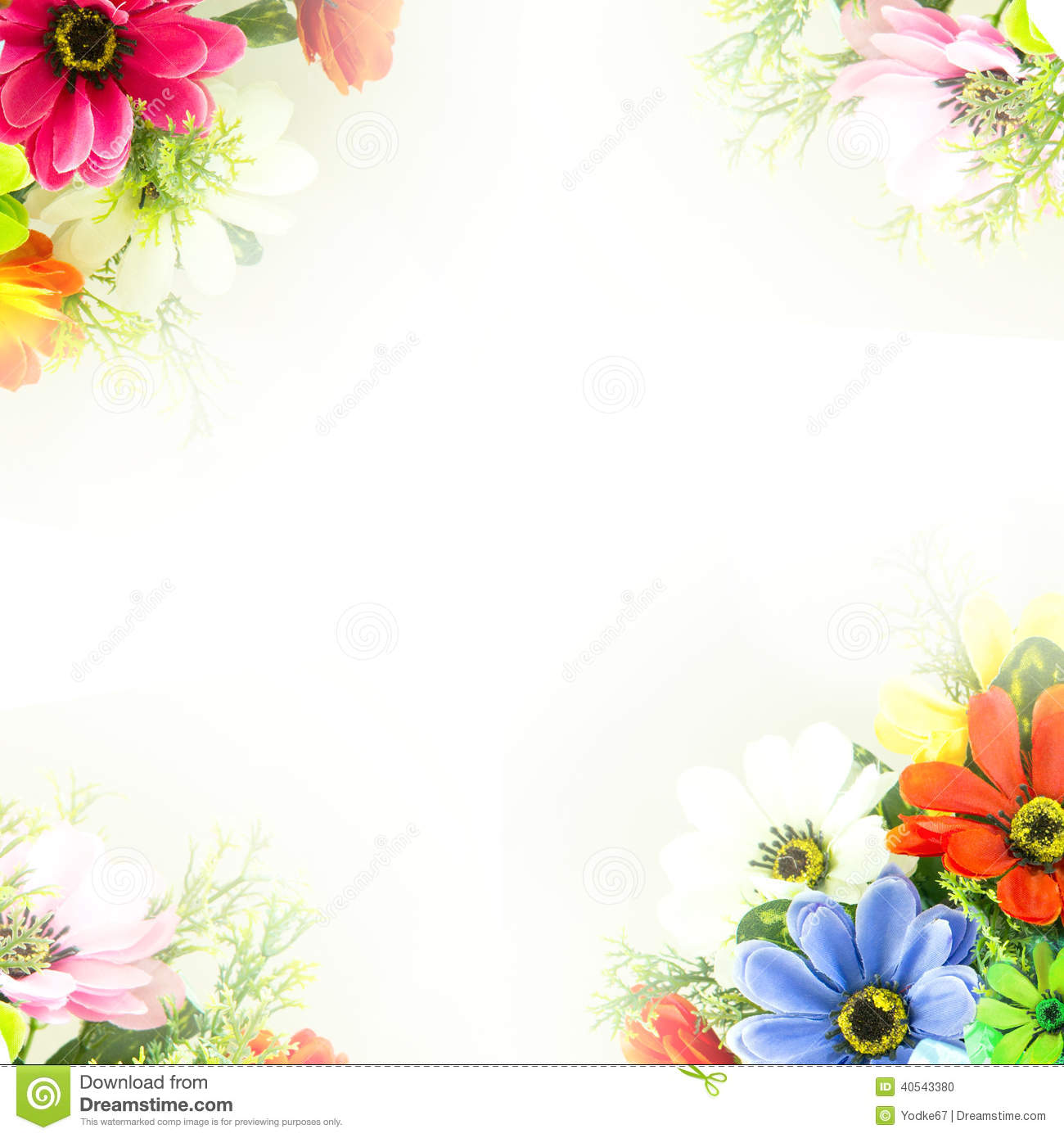 Flower Background Fake Flowers Stock Illustration Illustration Of Abstract Close 40543380