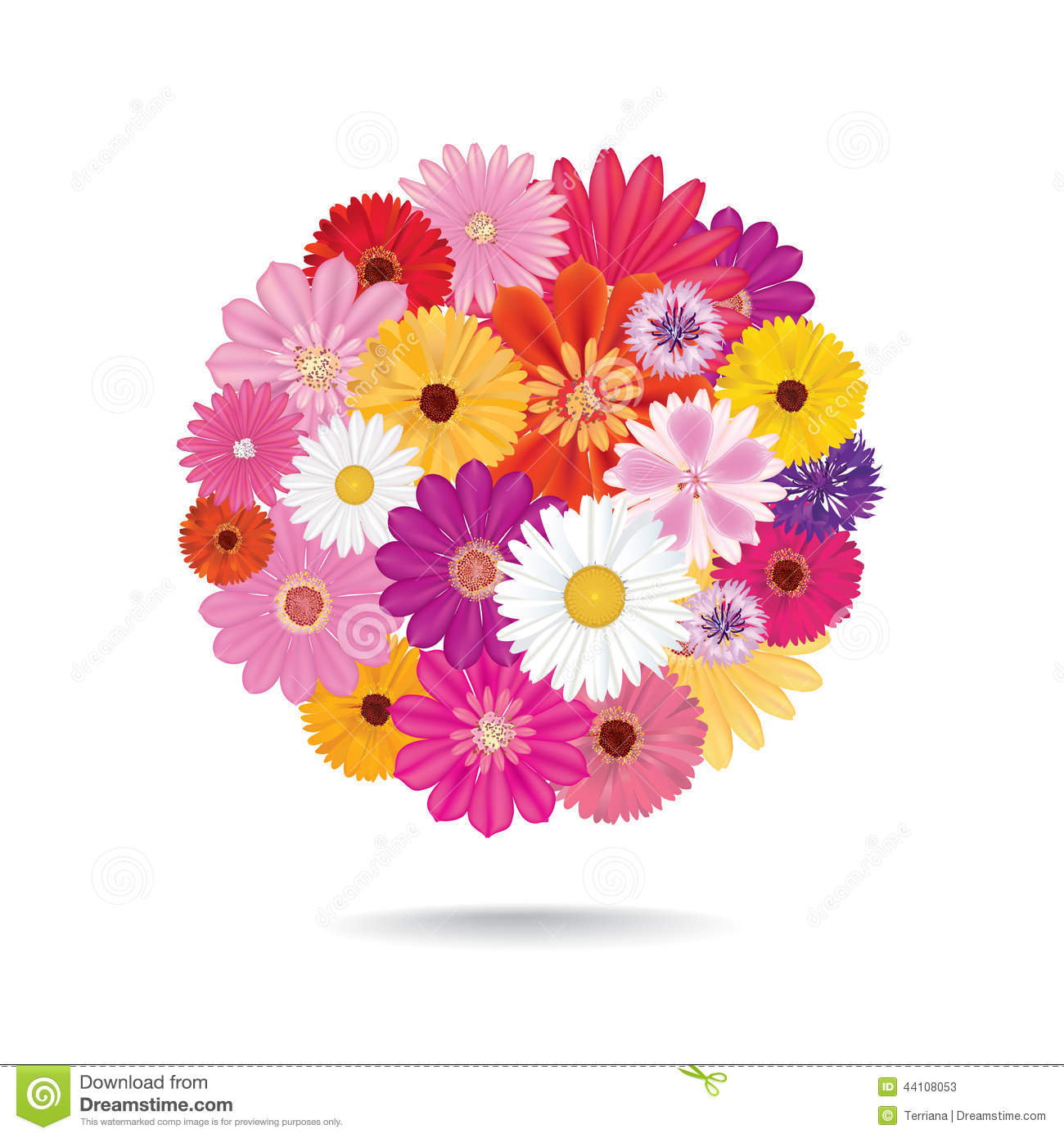 Fall Flowers Wallpaper Free Flower Bouquet Floral Posy Isolated On White Background