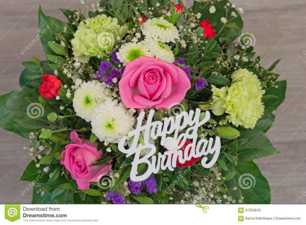 Free birthday flower bouquet images gendiswallpaper flower bouquet with text happy birthday stock image of izmirmasajfo Image collections