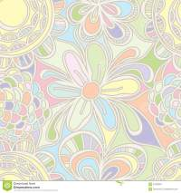 Flower Drawing Pastel Color Seamless Pattern Stock Vector ...