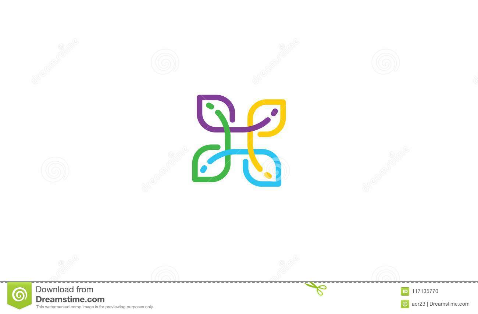 Flower Financial Solutions Logo Vector Stock Vector