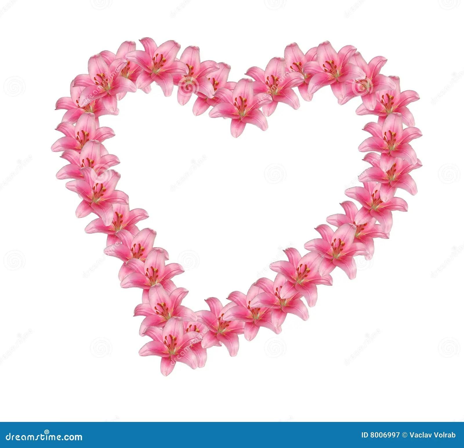 flower heart stock image