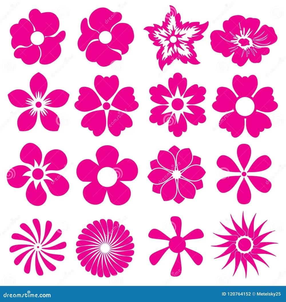 medium resolution of flower icon set different type of flowers vector illustration