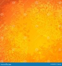 Flower Ornamental Gold Pattern Background. Royalty Free ...