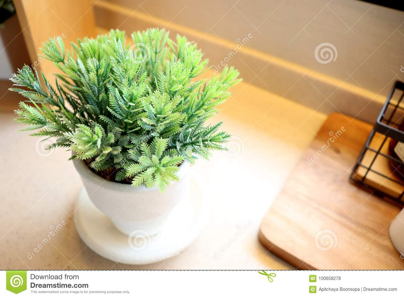 Decoration Jardin Pot Flower Pot And Wooden Box Stock Photo Image Of Home 100658278