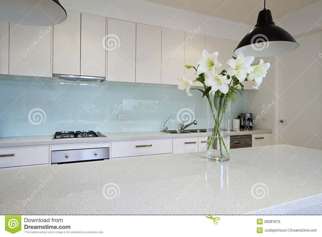 white kitchen bench rugs for the flowers on contemporary stock image of luxury