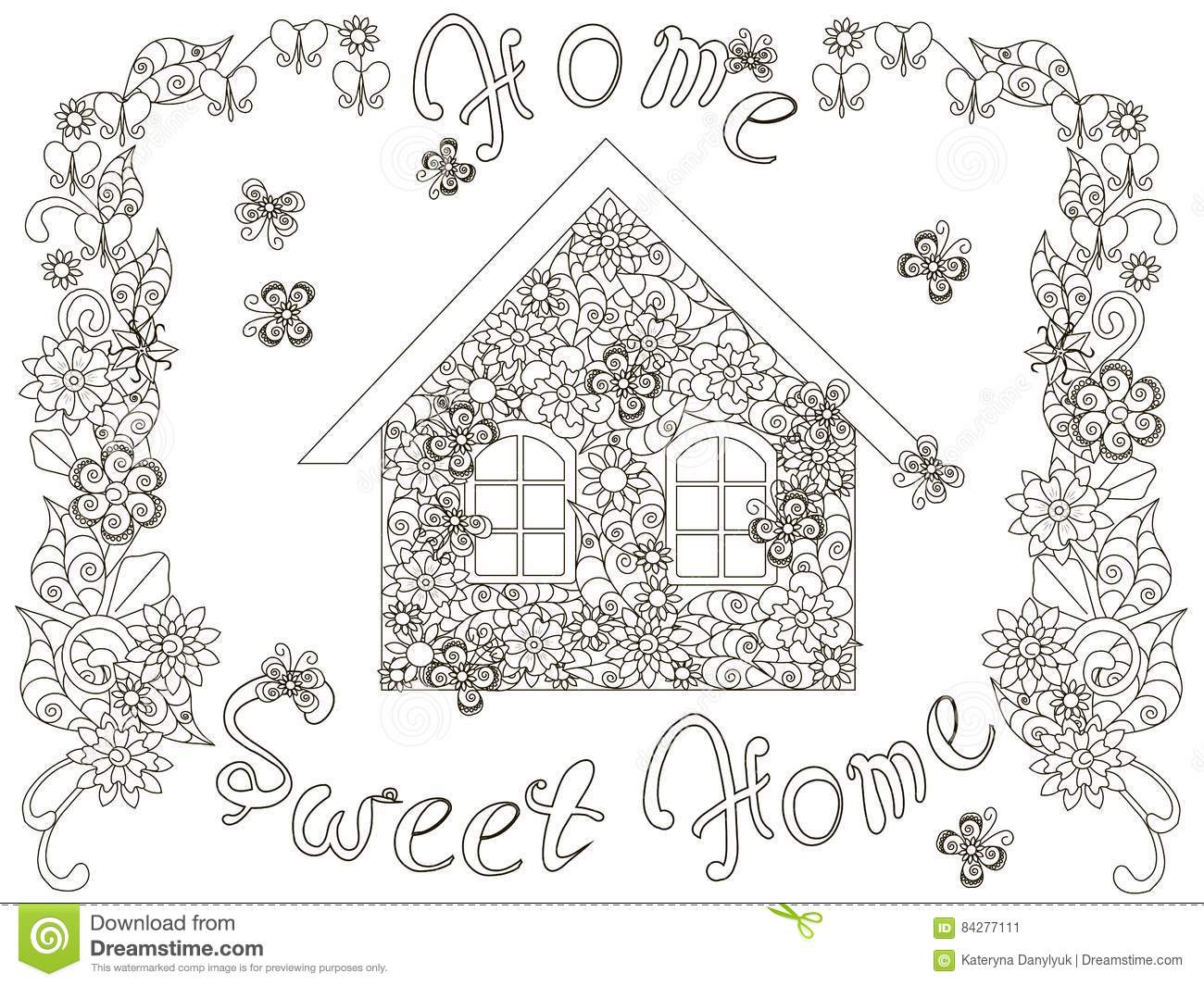 Home Sweet Home Coloring Pages Coloring Pages