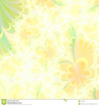 Flowery Yellow And Green Abstract Background Design ...