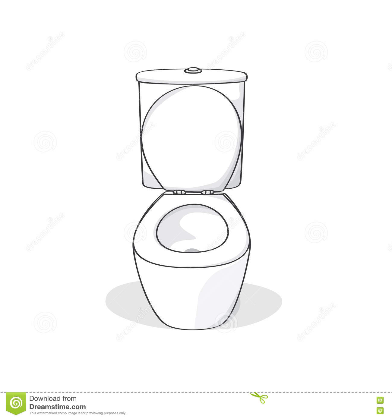Flush Toilet Stock Vector