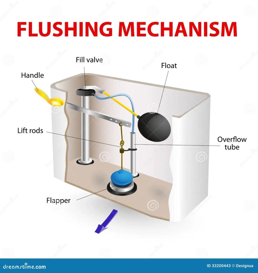 medium resolution of flush toilet flushing mechanism vector diagram how its made