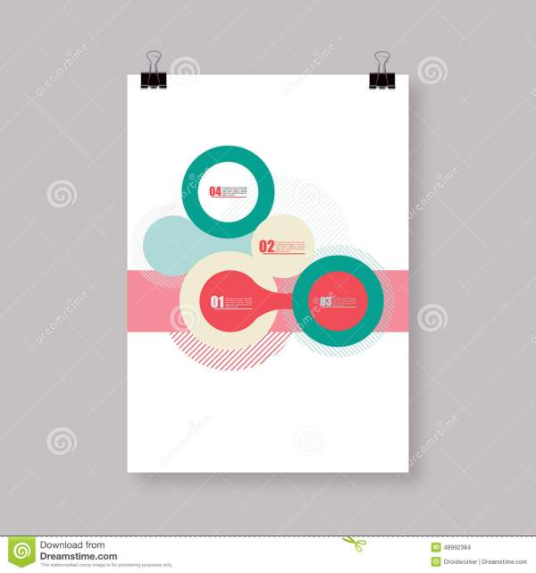 Flyer Cover Abstract A4 A3 Poster Template Design With Text Stock Vector - 48992384