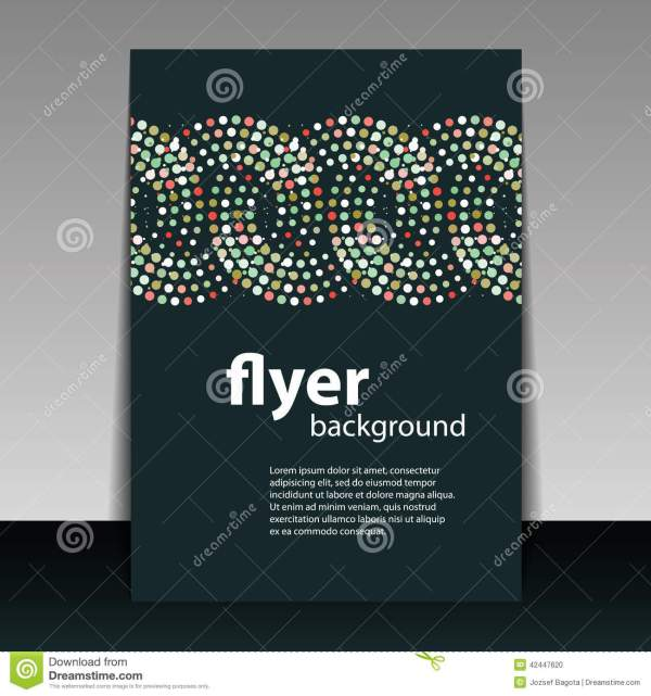 Flyer Cover Design With Circular Dots Pattern Stock