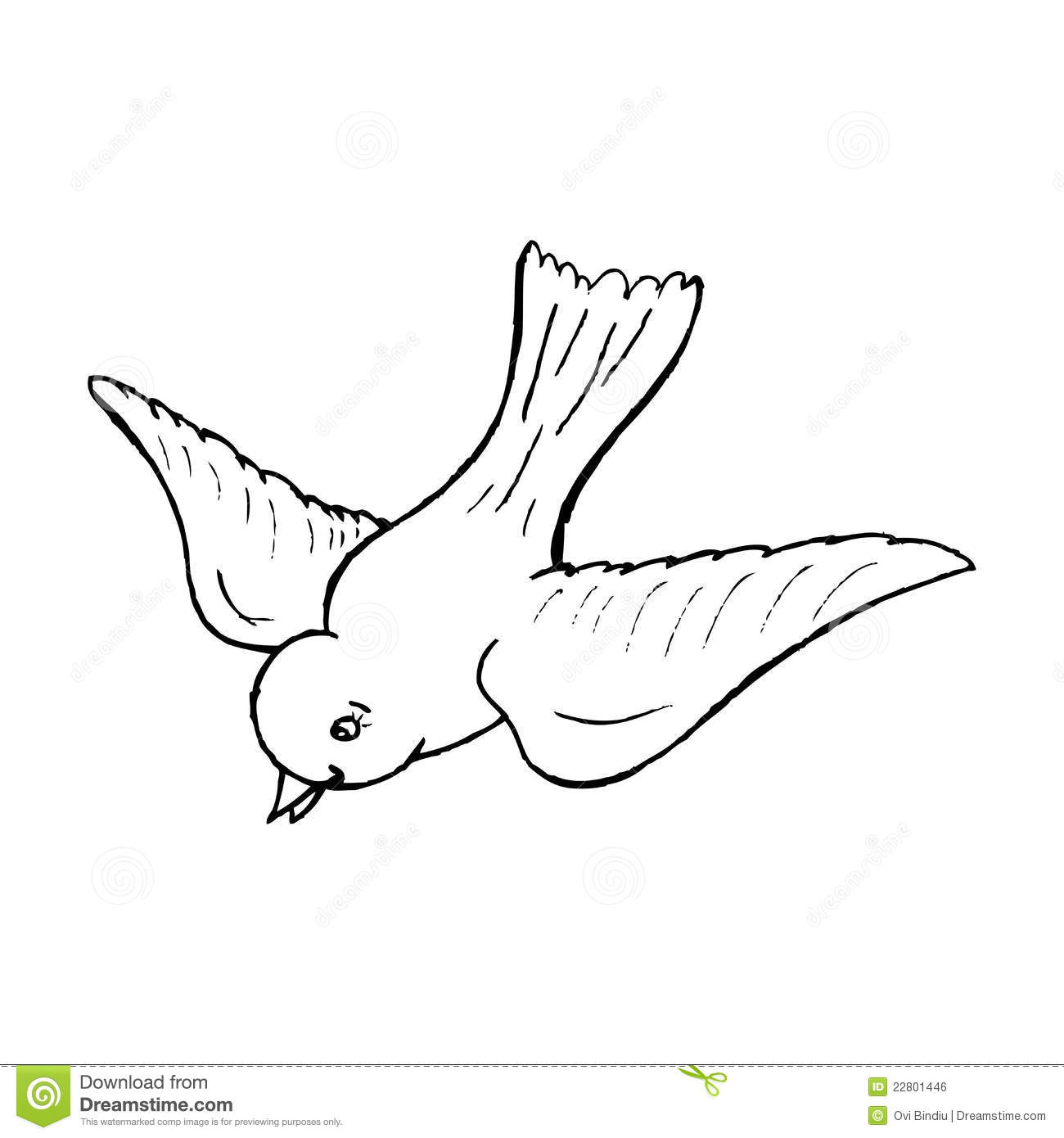 A Flying Bird Royalty Free Stock Image