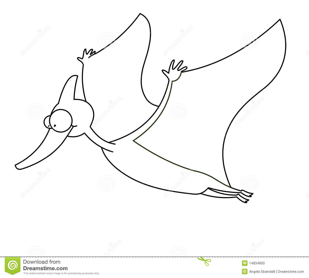 Flying Dinosaur Black And White Stock Photo