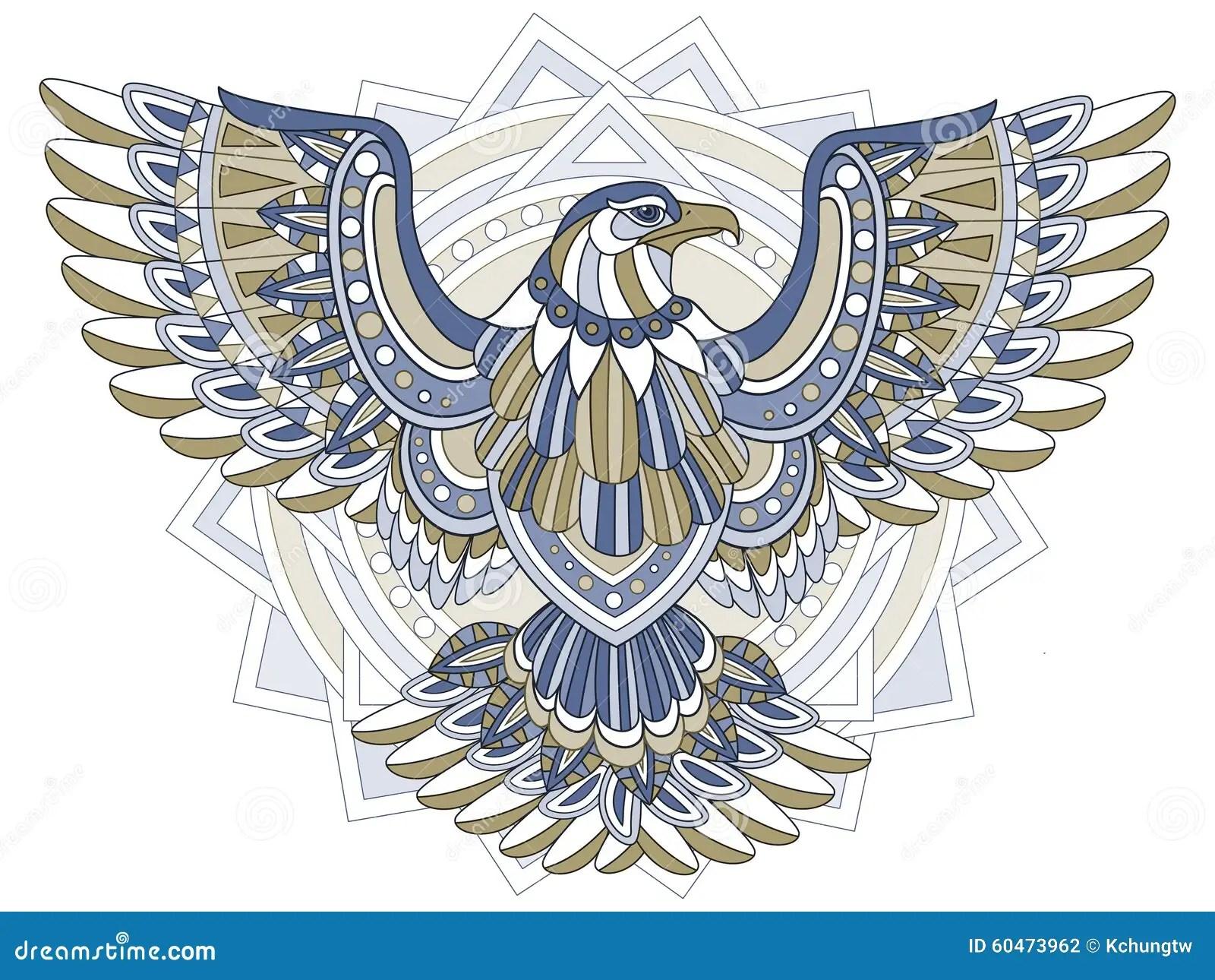 Flying Eagle Stock Illustration Illustration Of Doodle