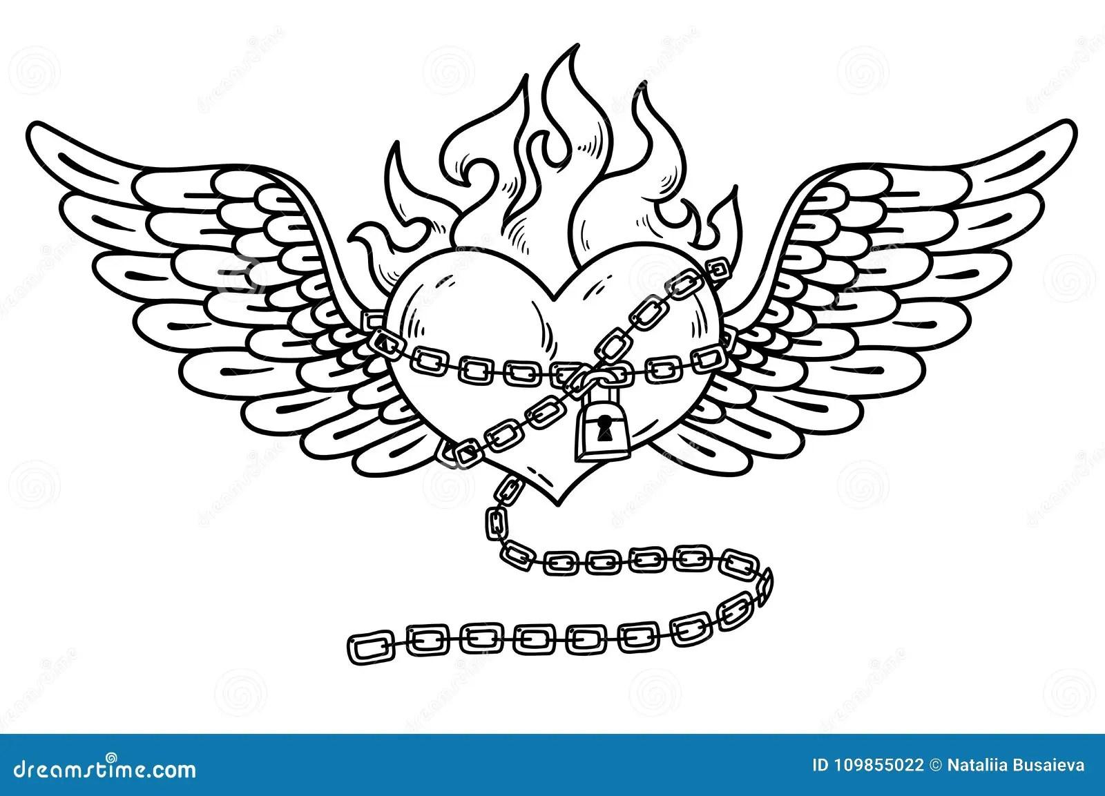 Chain Tattoo Stock Illustrations