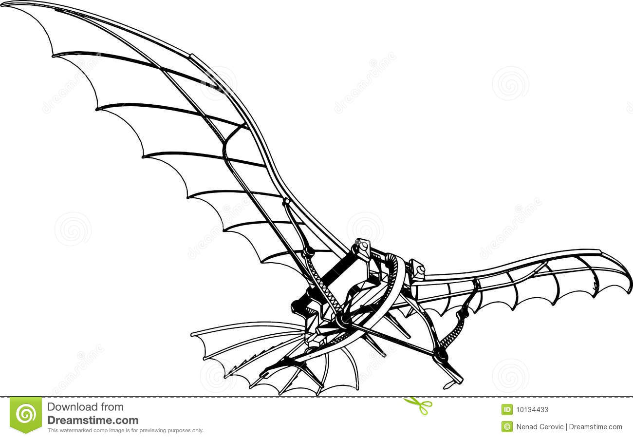 Flying Machine Vector 01 stock vector. Image of aircraft