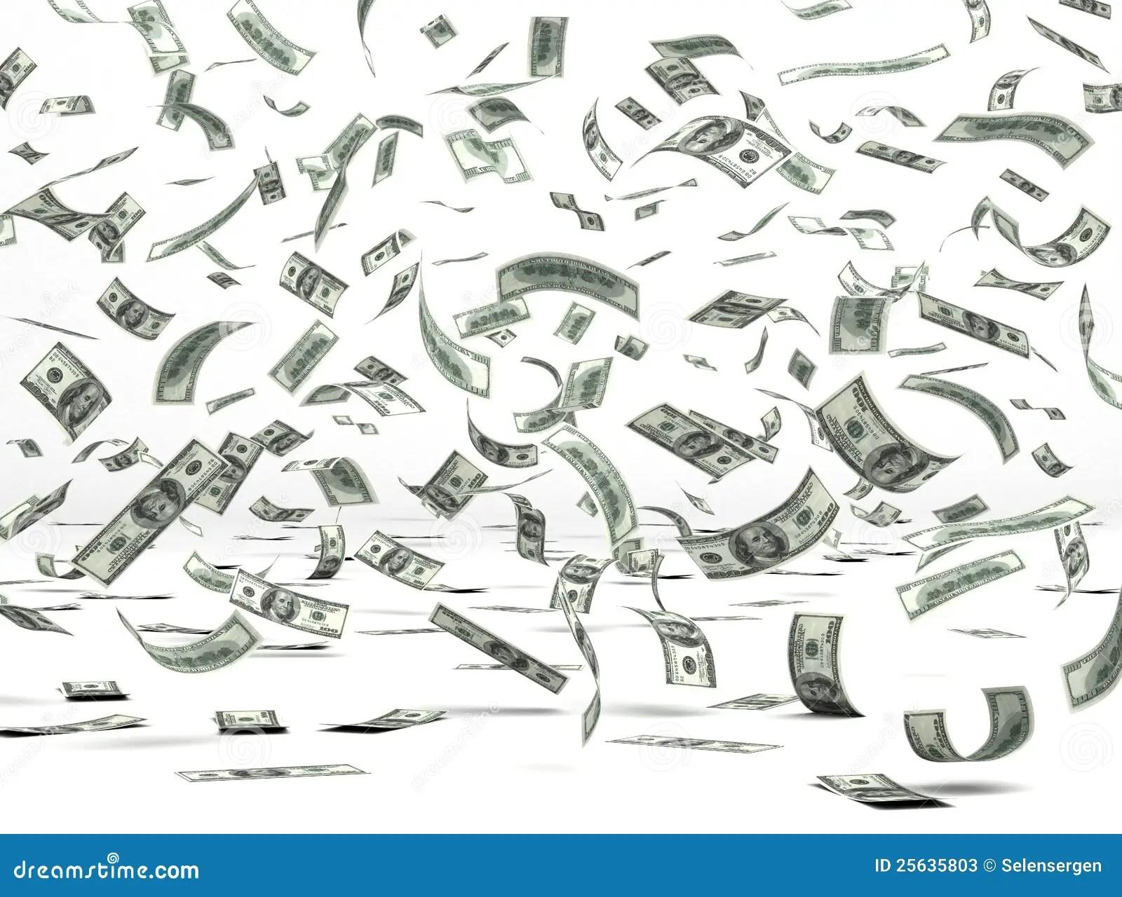 Flying Money Dollar Stock Illustration Illustration Of