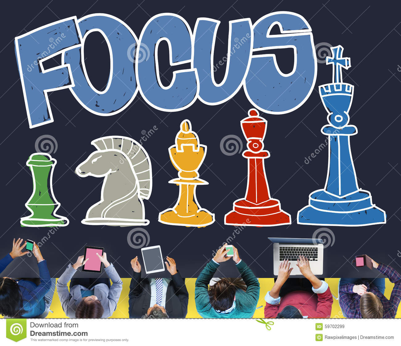 Focus Focal Concentration Attention Concept Stock