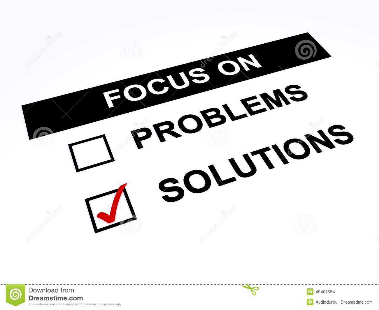 Focus on solutions stock illustration. Image of positive