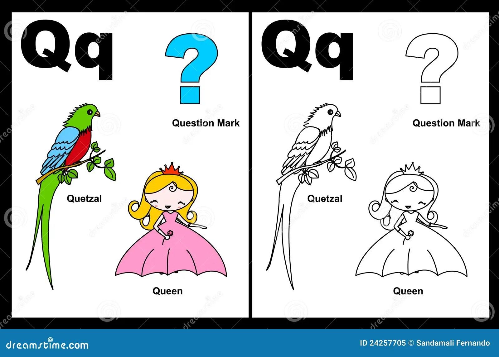 Foglio Elettronico Della Lettera Q Illustrazione