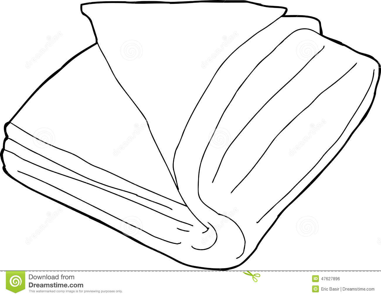 Folded Fabric Outline Stock Vector