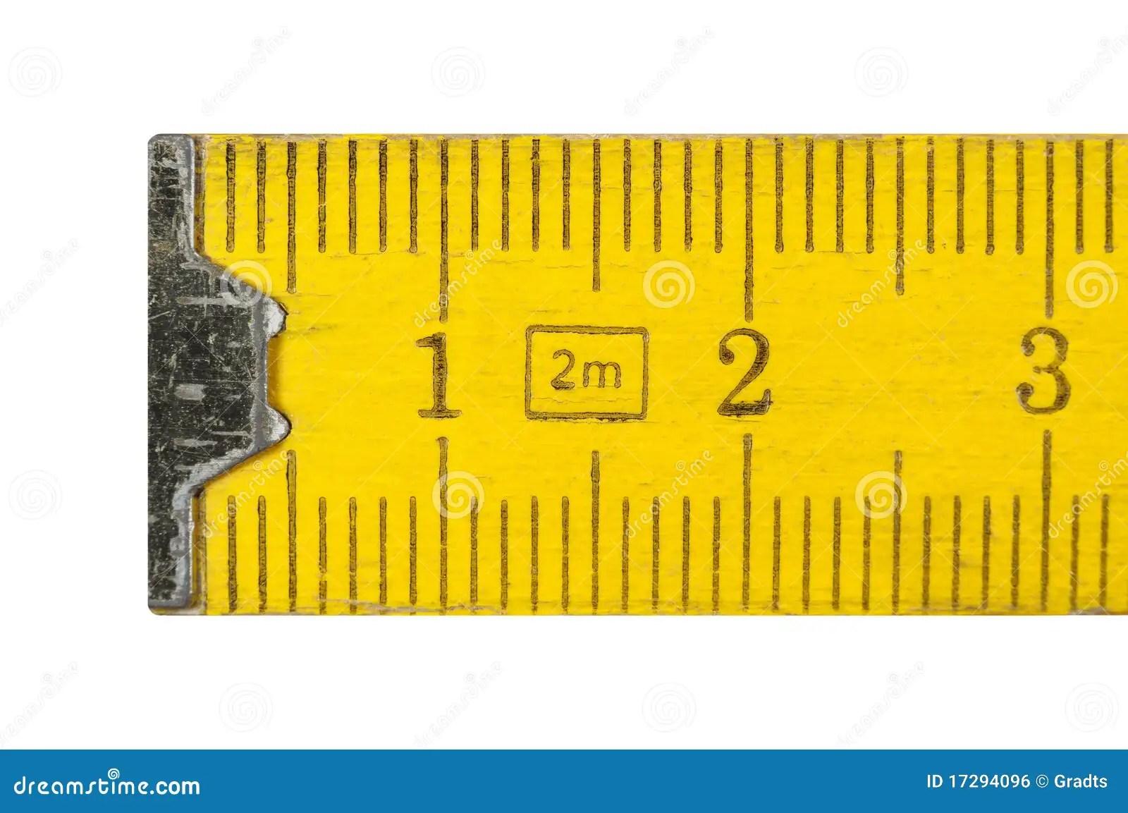 Folding Meter Stick Stock Photo Image Of Measuring