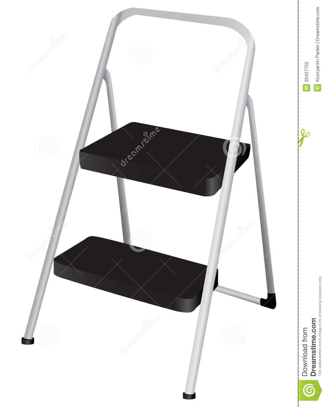 folding chair ladder ada pool lift requirements step stool vector illustration cartoondealer