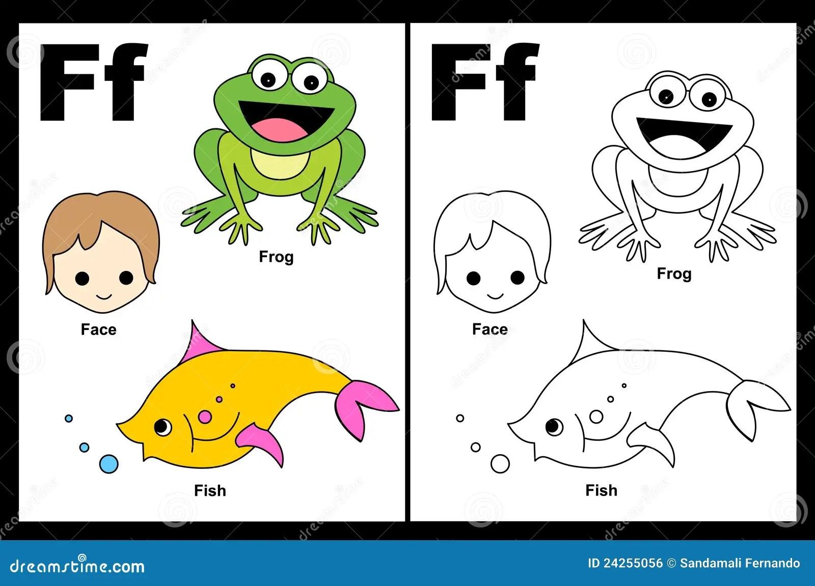 Folha Da Letra F Ilustracao Do Vetor Ilustracao De Educacional