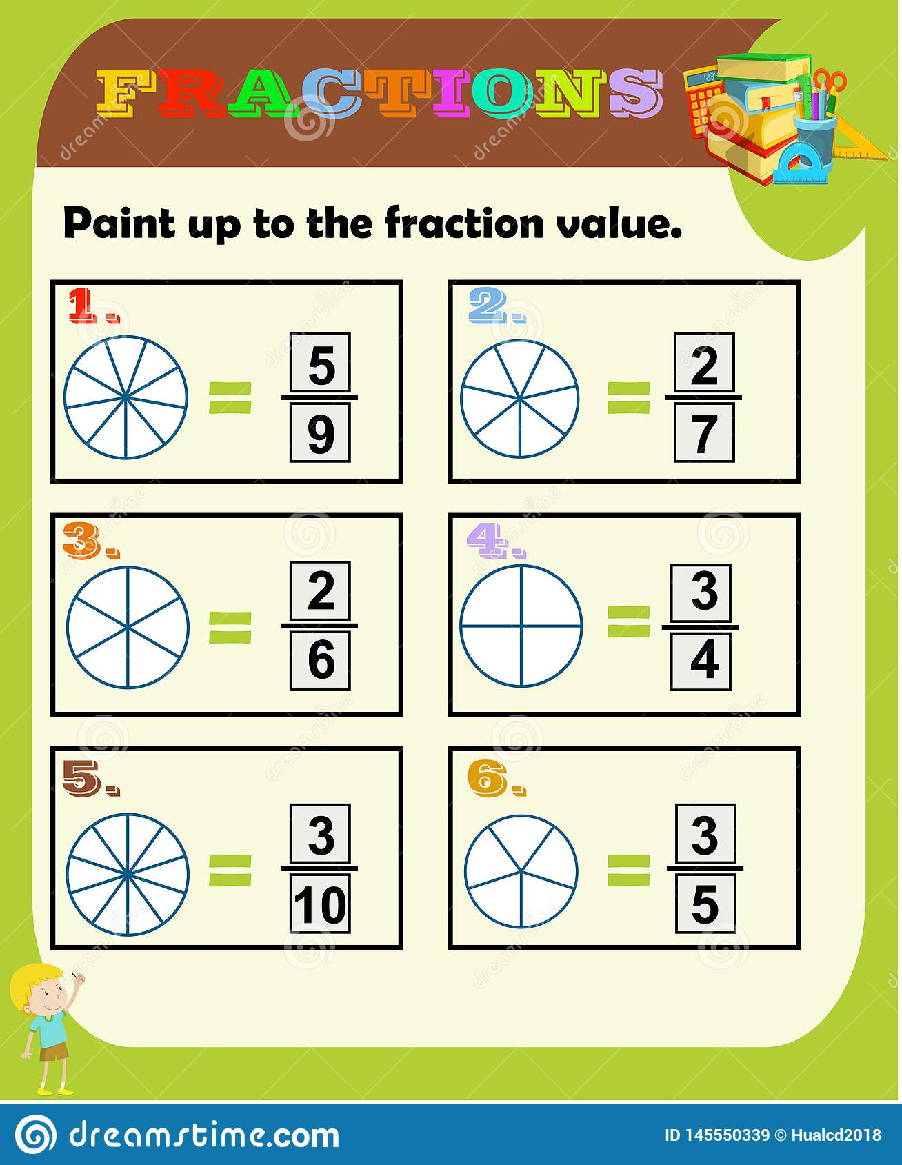 Fractions Worksheet Fraction Review Fraction Practice