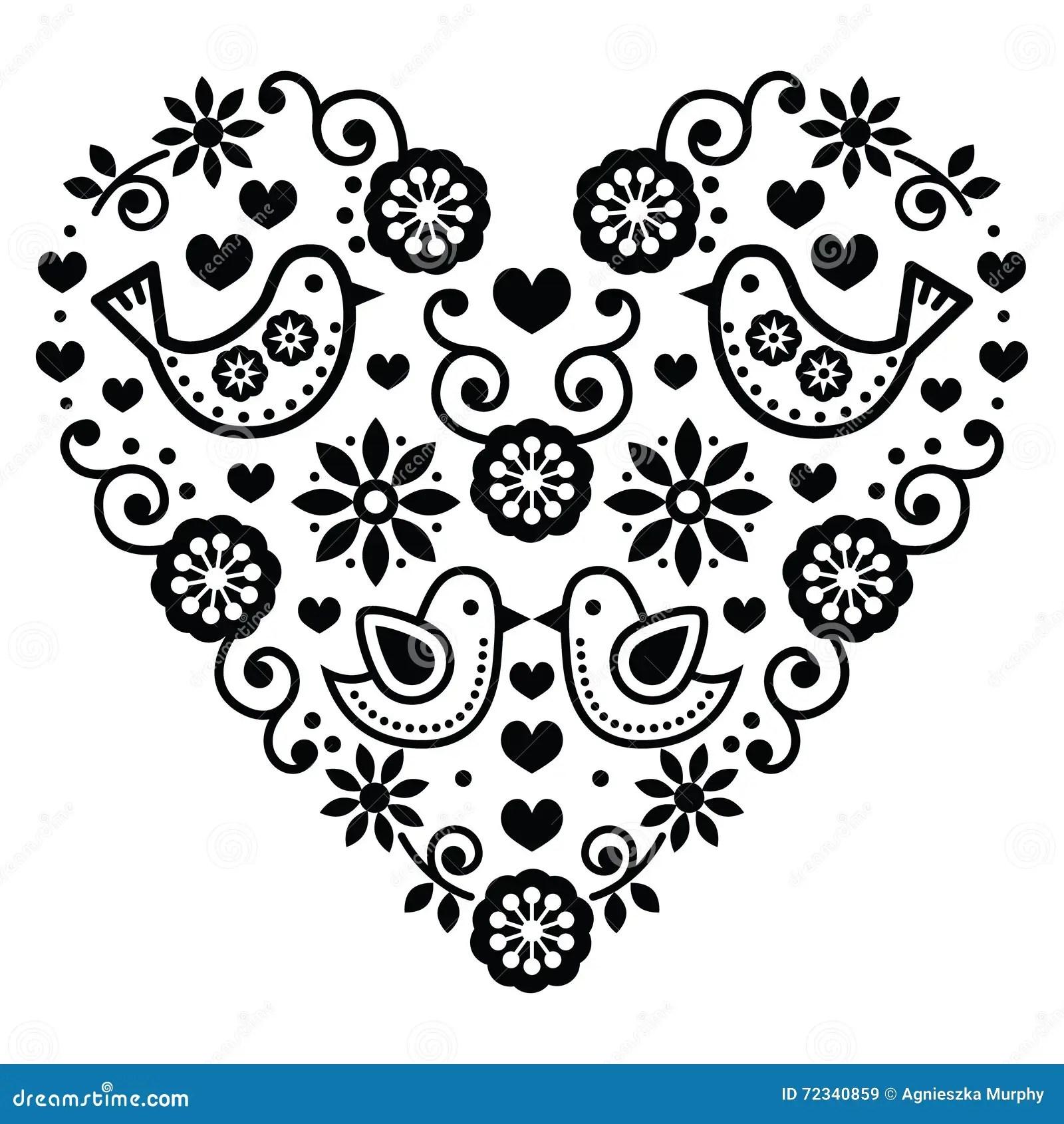 Folk Art Valentine S Day Heart