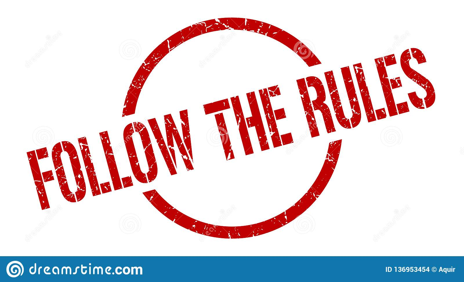Follow The Rules Stamp Stock Vector Illustration Of Rules