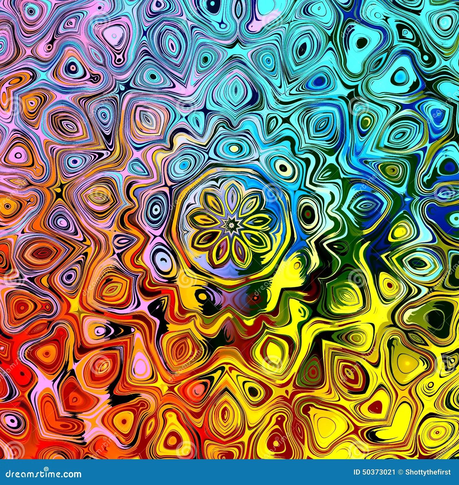 Fond Abstrait Avec Des Formes Stylises Cratives Colores