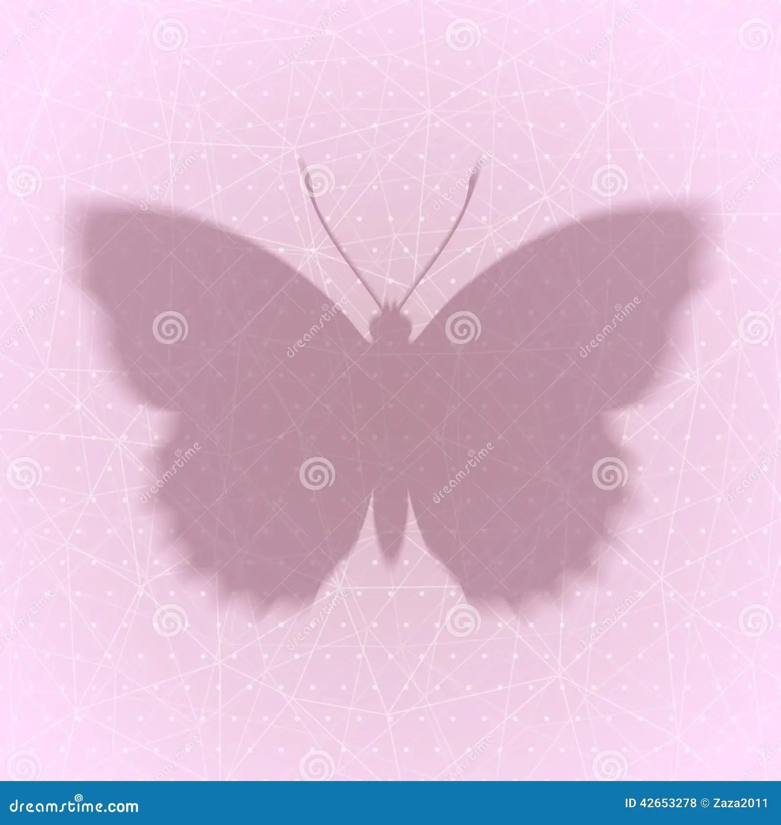 Fond Abstrait Avec L Ombre Du Papillon Eps10 Illustration De