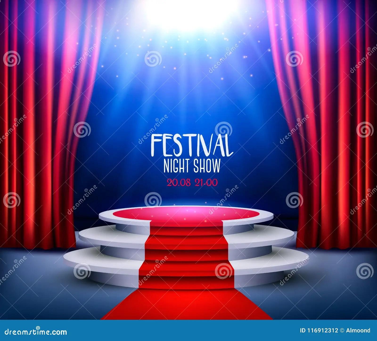 https fr dreamstime com fond salle d exposition tapis rouge projecteur image116912312