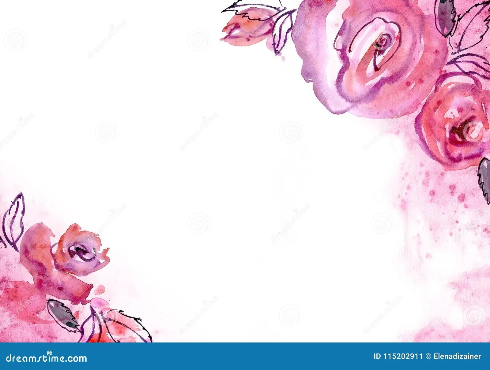 https fr dreamstime com fond mignon fleur d aquarelle invitation carte mariage anniversaire image115202911