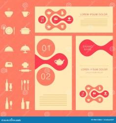 background food menu banner restaurant vector card chef cook