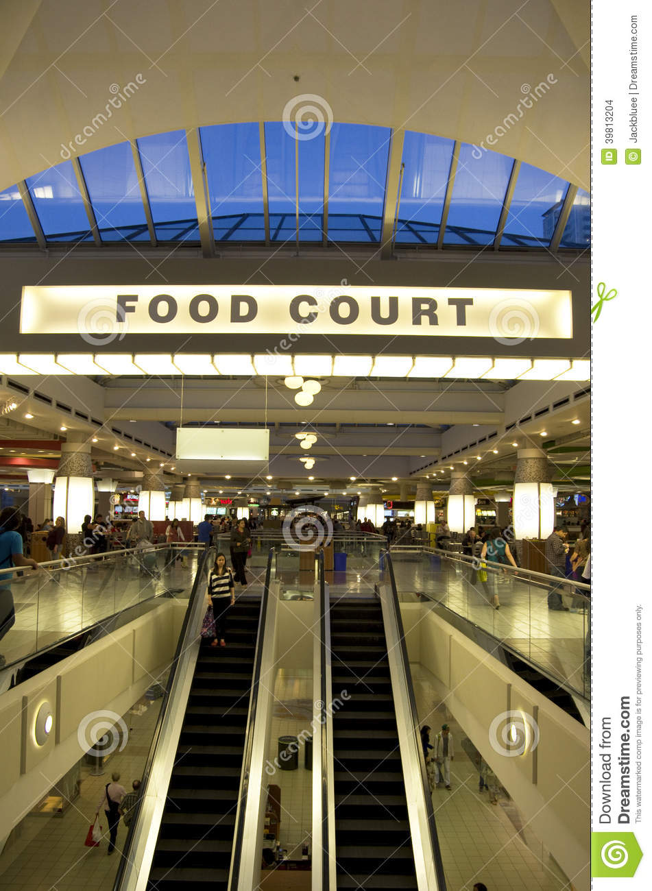 Vancouver Mall Food Court : vancouver, court, Court, Editorial, Stock, Image., Image, Interiors, 39813204